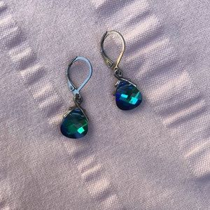 Iridescent Blue/Green Earrings